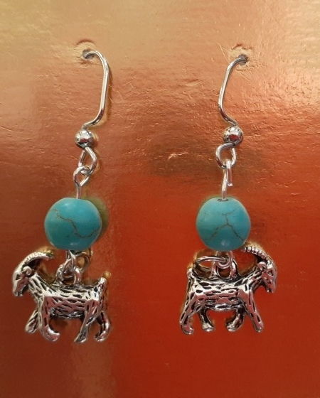 Big Stone Mini Golf - Goat Earrings